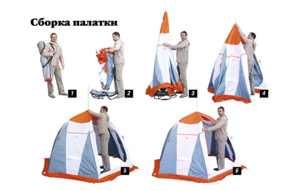 сборка палатки нельма зонт