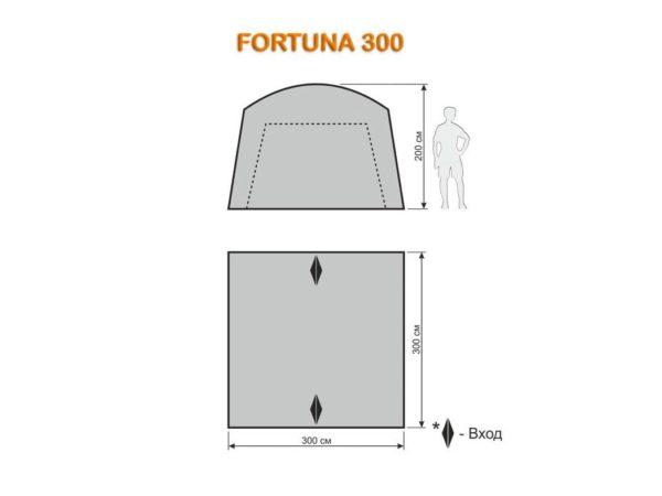 Шатёр автомат Fortuna 300,